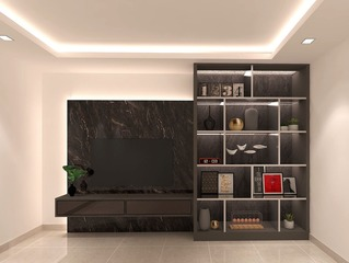 Existing Tv console with new display shelf