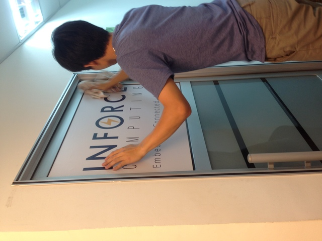 We provide installation for sticker in penang area