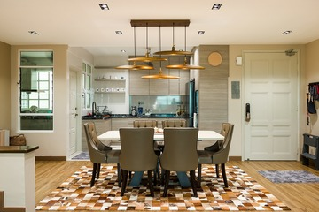 Dining Room - w/ Designer Pendant Light