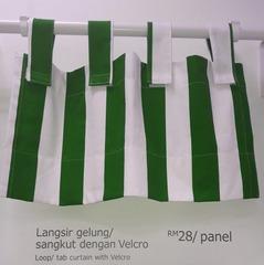 Loop/ tab curtain with Velcro