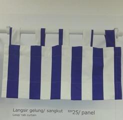 Loop/ tab curtain