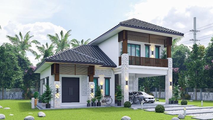 Bali design 2 story bungalow