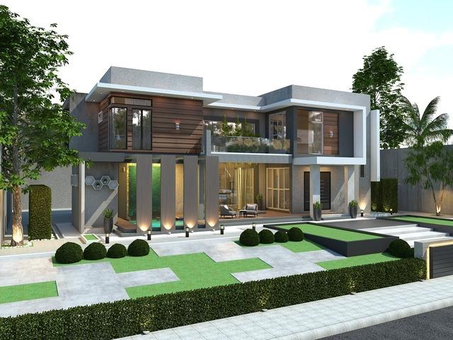 2 storey bungalow house, modern design