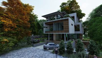 10,000sqft Bungalow Design