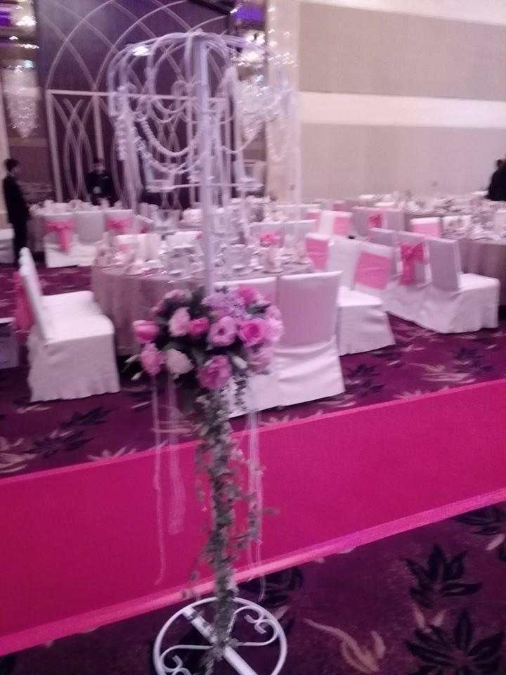 Wedding banquet floral decoration by mcclient florist recommend mcclient florist junglespirit Image collections