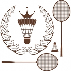 Medium free vector silhouette badminton racket and shuttle 569044
