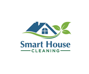 Medium smart house cleaning logo design 5