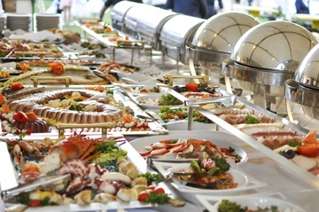 Medium catering buffet