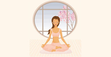 Medium 071 people tree yoga girl free vector