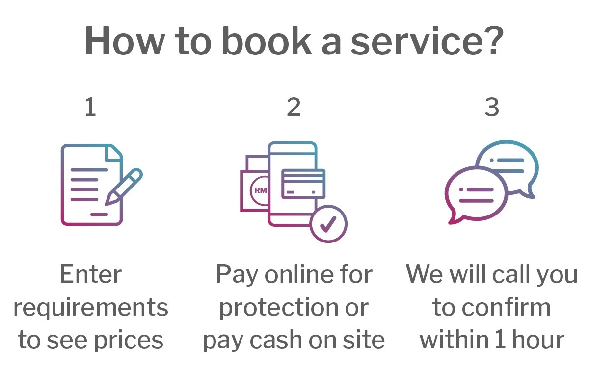 How to book a service ded